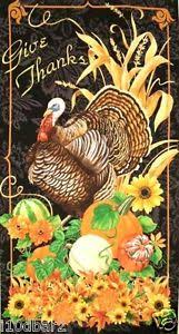 give thanks thanksgiving fabric panel turkey gourds wilmington