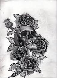 roses and skull by bobby castaldi on deviantart