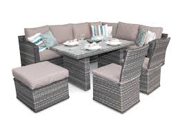 Outdoor Rattan Corner Sofa Chelsea Rattan Sofa Corner Dining Set With Dining Chairs Natural