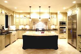 Color Schemes For Kitchens With Dark Cabinets by Green Painted Island With Wooden Top Dark Cabinets Color Schemes