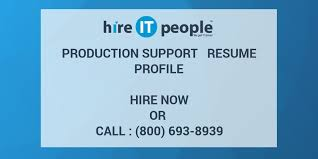Sample Resume For Mainframe Production Support by Production Support Resume Profile Hire It People We Get It Done