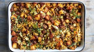 cornbread dressing with sausage and fennel recipe bon appetit