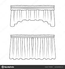 tende con drappeggio tende con drappeggio sul cornicione tende singola icona nel
