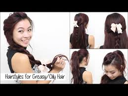 hairstyles to hide really greasy hair hairstyles for oily greasy hair l quick cute easy school hair