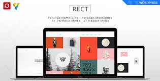bootstrap themes free parallax rect minimal portfolio bootstrap theme by andrewchs themeforest