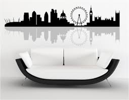 london skyline wall art stickers custom designscustom designs