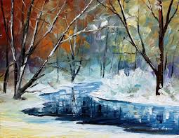 winter dream u2014 palette knife oil painting on canvas by leonid
