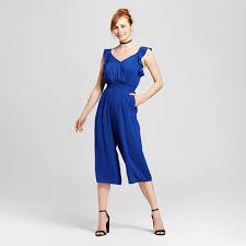 royal blue jumpsuit s ruffle crop jumpsuit xhilaration juniors royal blue