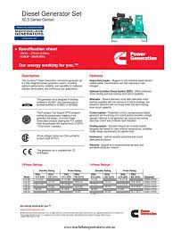 cummins c17d5 specification sheet electric generator electric
