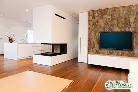DIY Wall Art Stacked Stone GreenClaimed Designer Cork Tiles - Tiles design for living room wall