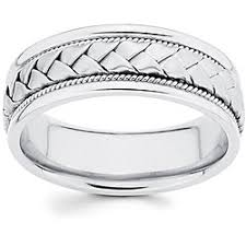 white gold mens wedding band 14k gold 8 mm braided comfort fit wedding band size 9 12 5