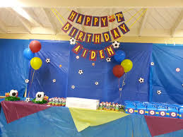 Theme Decoration by Fc Barcelona Theme Birthday Party Decor Danis 7th Pinterest