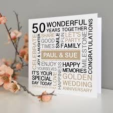 personalised golden wedding anniversary card