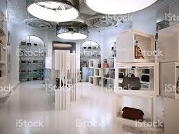 luxury store interior design art deco style with hints stock photo