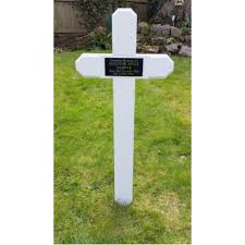 temporary grave markers wooden grave cross