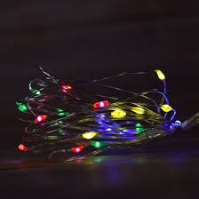 20 rgb multi color led fairy wire waterproof string lights w
