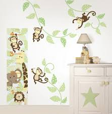 baby nursery awesome frame wall decoration with cute monkey and monkey bedroom decor for kids bedroom baby nursery room design using white cabinet table designed