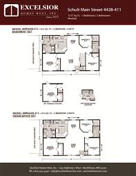 schult modular home floor plans schult main street 4428 411
