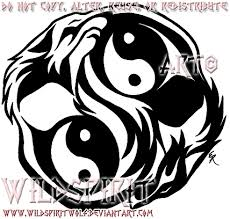 dual yin yang wolves by wildspiritwolf on deviantart