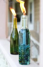 how to decorate a wine bottle for a gift diy wine bottle citronella candles hello glow