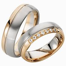 two tone wedding rings furrer jacot two tone wedding ring diamond ideals