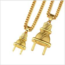 new arrival fashion 24k gp gold plated mens women 24k gold plated ced out bling mens pendant necklace plated