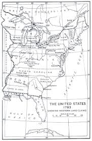 Black And White United States Map by Maps United States Map 1783