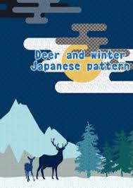 theme line winter deer and winter japanese pattern line theme line store
