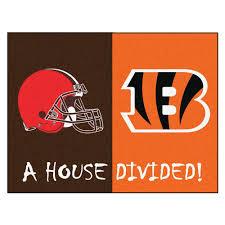 Cleveland Browns Flag Cleveland Browns Cincinnati Bengals Nfl House Divided Nfl All Star Flo