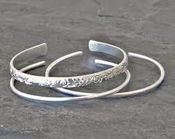 silver cuff bangle bracelet images Silver cuff bracelet etsy jpg