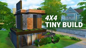 Tiny House Facts by The Sims 4 Tiny Build 4x4 Build W Sisligracy Youtube