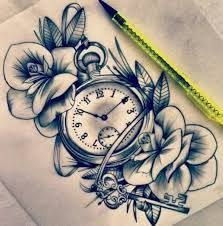 floral tattoo quarter sleeve image result for water lily clock tattoos tatuoinnit pinterest