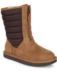 ugg s mammoth boots lyst ugg mammoth suede fringe boot in brown