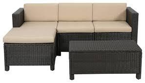 Patio Sectional Sofa Lorita Outdoor Sectional Sofa Set Brown Contemporary Outdoor