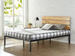 Bed Frame Legs For Hardwood Floors Zinus Sonoma Metal Wood Platform Bed U0026 Reviews Wayfair