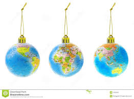 globe ornaments stock image image 7025641