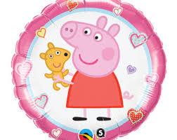 pig balloons peppa pig balloons etsy