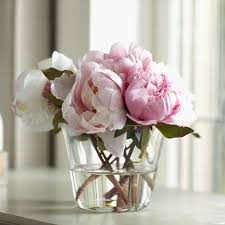 peony arrangement birch faux peony floral arrangements in vase reviews