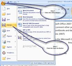 how to password protect microsoft office 2007 documents