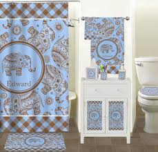 gingham u0026 elephants full print bath towel personalized potty