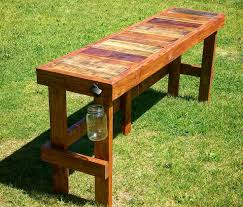 Building A Wood Picnic Table by Best 25 Outdoor Bar Table Ideas On Pinterest Outdoor Bars Bar