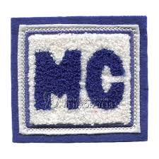 custom chenille letter patches