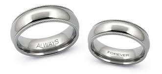 wedding ring engraving engrave your titanium or tungsten wedding band avant garde jewelry