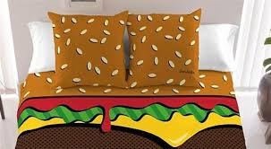 cozy up to a burger in bed