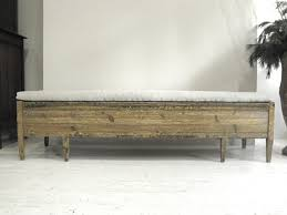 anton u0026 k swedish provincial 19thc bench in antique linen this