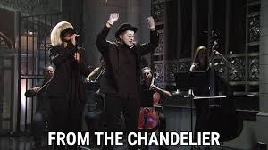 Im Gonna Swing From The Chandelier Chandelier Live On Snl Lyrics Sia Song In Images