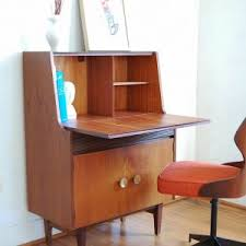 Desk With Top Shelf Furniture Best Mid Century Modern Desk With Bookshelves And