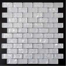Glass Tile Sheets Strip Kitchen Backsplash Tile Wall Sticker Ice - Tile sheets for kitchen backsplash