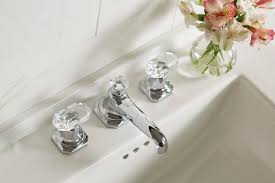 for loft by michael s smith basin faucet set crystal handles