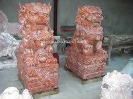 marble foo dogs fudogs marble sculpture foo dog temple lion garden carvings